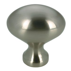 "Richelieu Hardware 1 3/16"" Long Egg Knob in Brushed Nickel"