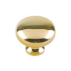 "Richelieu Hardware Hollow Brass 1 1/4"" Diameter Round Knob with Small Base in Brass"