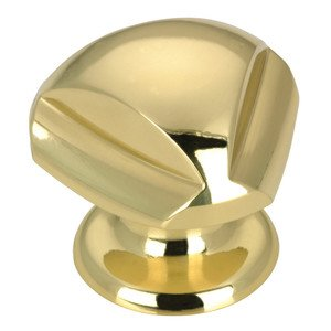 """Richelieu Hardware Solid Brass 1 3/16"""" Diameter Triangular Contoured Knob in Brass"""