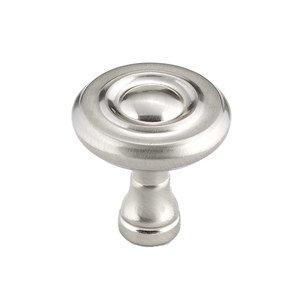 """Richelieu Hardware 1 1/4"""" Round Knob In Brushed Nickel"""
