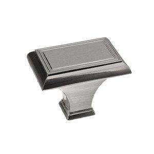 "Richelieu Hardware 1 11/16"" Rectangle Knob In Brushed Nickel"