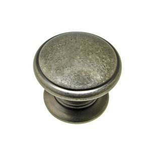 "Richelieu Hardware 1 1/4"" Diameter Knob with Beveled Edge in Pewter"