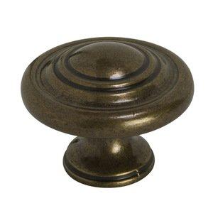 """Richelieu Hardware 1 3/4"""" Round Knob In Antique English"""