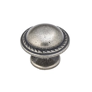 "Richelieu Hardware 1 1/8"" Diameter Flat Face Knob in Natural Iron"