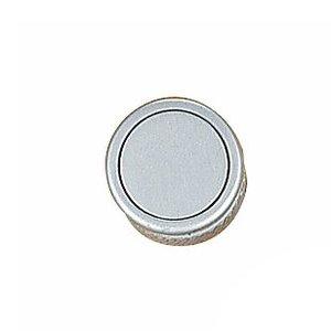 "Richelieu Hardware 1 1/32"" Round Contemporary Recessed Knob in Matte Chrome"