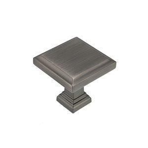 "Richelieu Hardware 1 1/4"" Long Transitional Knob in Antique Nickel"