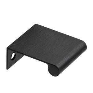 "Richelieu Hardware 1 9/16"" Long Edge Pull in Brushed Black"