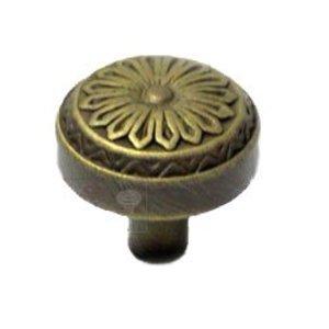 RK International Flowery Ornate Knob in Antique English