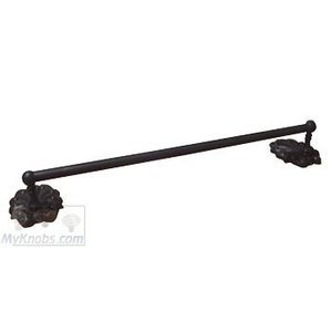 "RK International Hardware Bath Accessories - Peacock Design 18"" Towel Bar in Oil Rubbed Bronze"