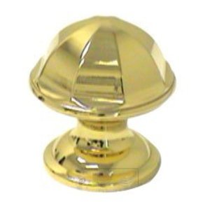 RK International Contoured Dome Knob in Polished Brass