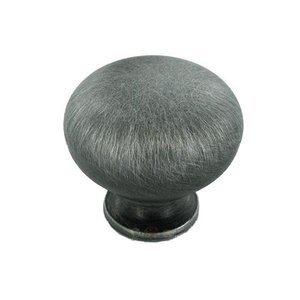 RK International Hollow Mushroom Knob in Distressed Nickel