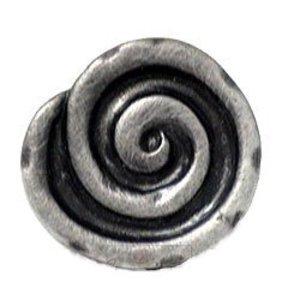 RK International Swirl Knob in Distressed Nickel