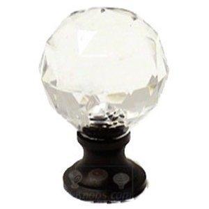 RK International Acrylic Round Knob in Oil Rubbed Bronze