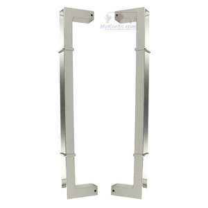 """RK International 12"""" Centers Back to Back Pull in Polished Nickel"""