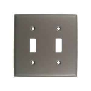 Rusticware Hardware Double Toggle Switchplate in Oil Rubbed Bronze