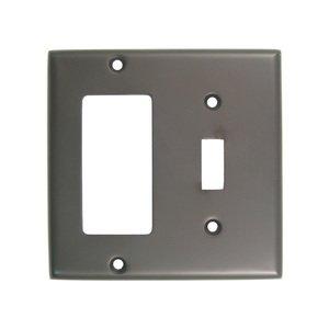 Rusticware Hardware Single Rocker/GFI Single Toggle Combination Switchplate in Oil Rubbed Bronze