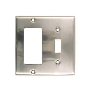 Rusticware Hardware Single Rocker/GFI Single Toggle Combination Switchplate in Satin Nickel