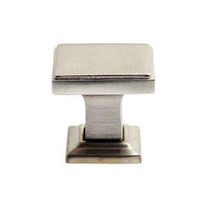 "Rusticware Hardware 1 1/8"" Square Modern Knob in Satin Nickel"