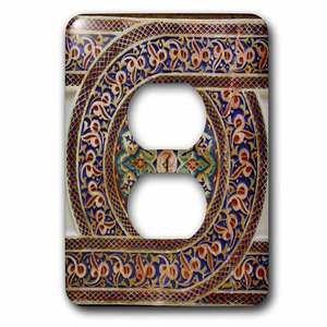 Jazzy Wallplates Single Duplex Switch Plate With Photo Of Mosaic Wall Décor, Marrakesh, Morocco