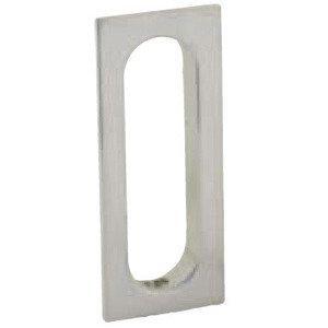 Schlage Door Hardware Solid Brass Recessed Pull in Satin Nickel