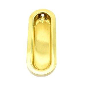 Schlage Door Hardware Solid Brass Recessed Pull in Bright Brass