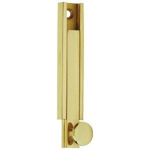 """Schlage Door Hardware Solid Brass 4"""" Modern Surface Bolt in Bright Brass"""