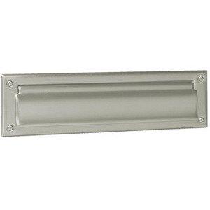 Schlage Door Hardware Solid Brass Magazine / Mail Slot in Satin Nickel
