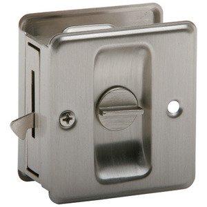 Ives By Schlage   Privacy Pocket Door Lock In Satin Nickel