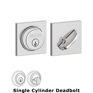 Schlage - B60 Series - Collins Single Cylinder Deadbolt in Bright Chrome  sc 1 st  MyKnobs.com & Deadbolts - B60 Series - Collins Single Cylinder Deadbolt in ... pezcame.com