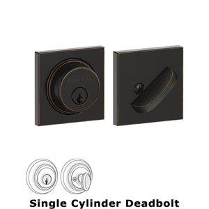 Schlage Door Hardware B60 Series - Collins Single Cylinder Deadbolt in Aged Bronze
