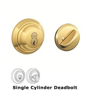 Schlage Door Hardware B60 Series - Single Cylinder Deadbolt in Lifetime Brass