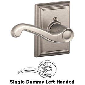 Schlage Door Hardware F170 Series - Left Handed Single Dummy Flair Door Lever with Addison Rose in Satin Nickel