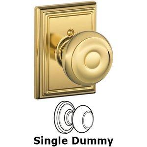 Schlage Door Hardware F170 Series - Single Dummy Georgian Door Knob with Addison Rose in Bright Brass