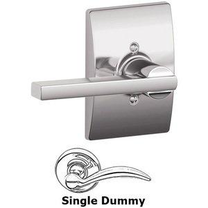 Schlage Door Hardware F170 Series - Single Dummy Latitude Door Lever with Century Rose in Bright Chrome