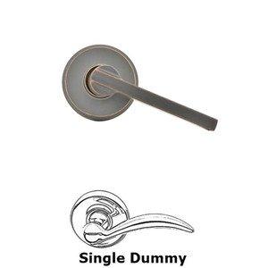 Schlage Door Hardware F Series - Latitude With Greyson Rose Single Dummy Door Lever in Aged Bronze