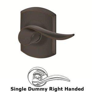 Schlage Door Hardware F Series - Sacramento With Greenwich Single Dummy Right Handed Door Lever in Aged Bronze