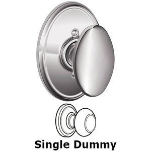 Schlage Door Hardware F170 Series - Single Dummy Siena Door Knob with Wakefield Rose in Bright Chrome