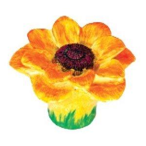 Siro Designs Yellow and Orange Sunflower Knob