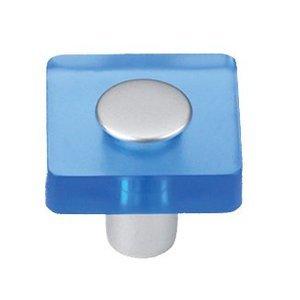 Siro Designs 30mm Square Knob in Blue/Matte Aluminum