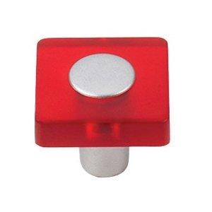Siro Designs 30mm Square Knob in Red/Matte Aluminum