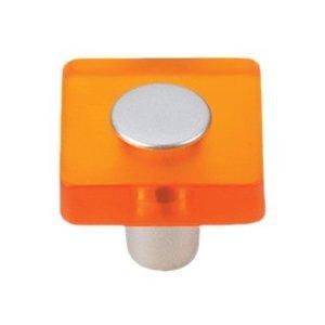 Siro Designs 30mm Square Knob in Orange/Matte Aluminum
