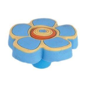Siro Designs 44mm Rubber Flex Flower Knob in Blue/Yellow/Orange