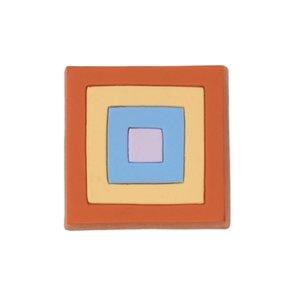 Siro Designs 44mm Rubber Flex Square Knob in Orange/Yellow/Blue/Lilac