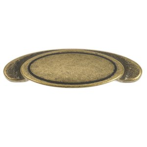 "Siro Designs Antique Brass 3 1/8"" Small Cup Pull"