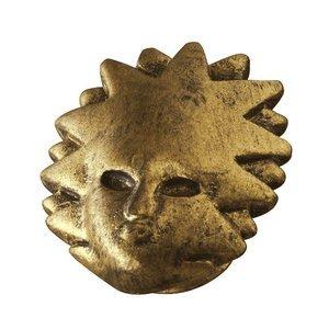Siro Designs Sun Mask Knob in Antique Brass