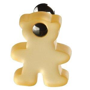 Siro Designs Orange Bear Swiveling Knob with Bright Chrome