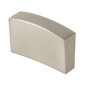 """Siro Designs 1 1/4"""" Centers Thin Pull in Fine Brushed Nickel"""