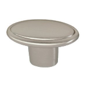Siro Designs Oval Knob in Fine Brushed Nickel