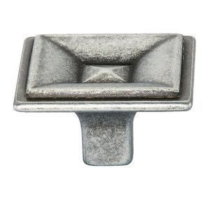 "Siro Designs 1 3/8"" (35mm) Knob in Antique Pewter"