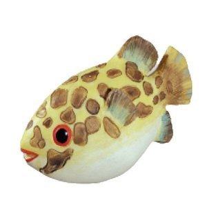 Siro Designs Yellow & Brown Speckle Fish Knob